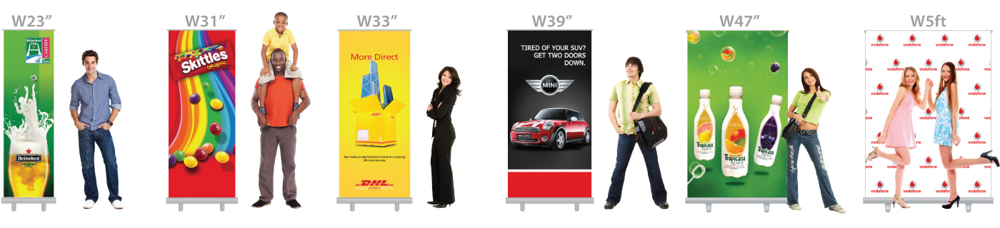 Retractable Banners - Size Chart