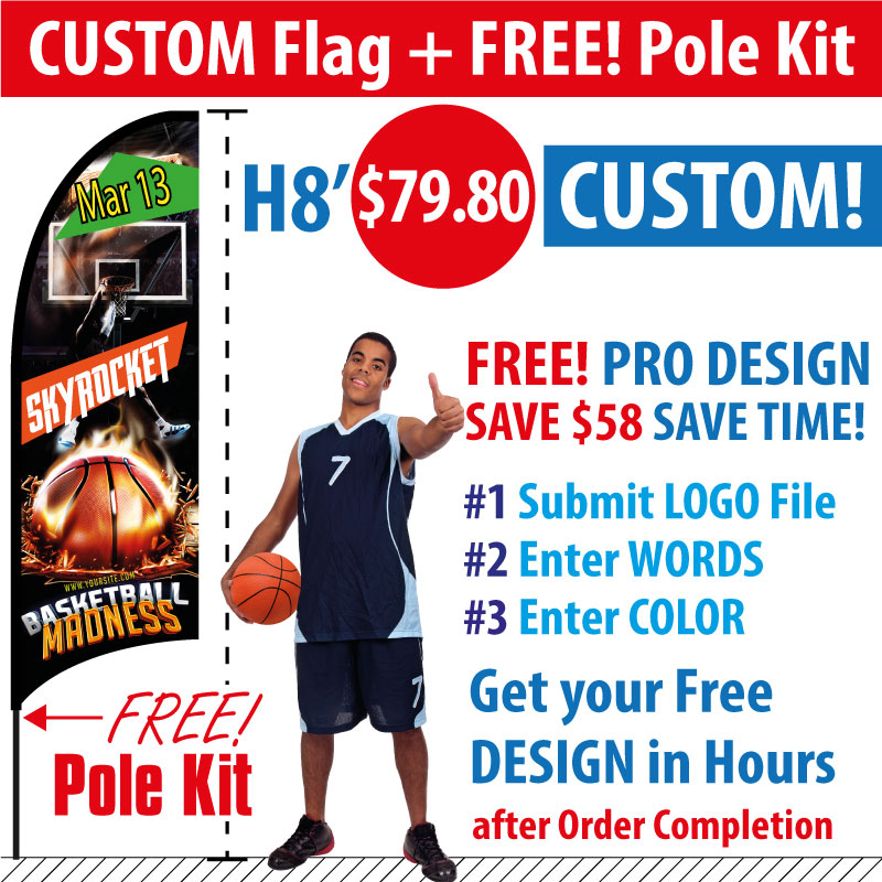 Feather Flags Custom - image source : retractable-banner-stands.com