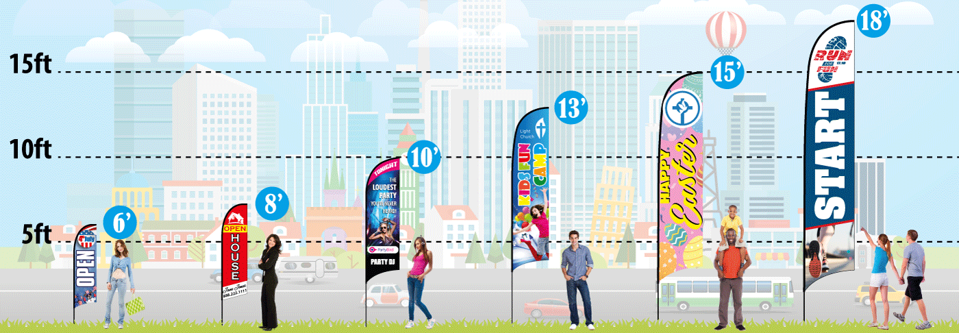 Feather Flags - One Group (www.retractable-banner-stands.com)