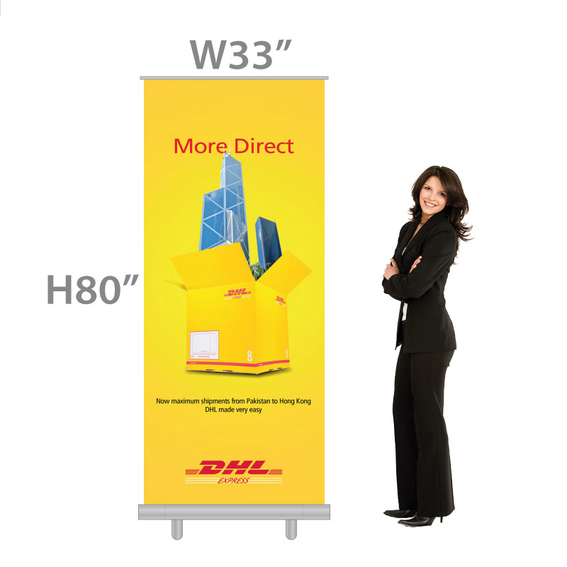 Retractable Banners - size regular standard W33