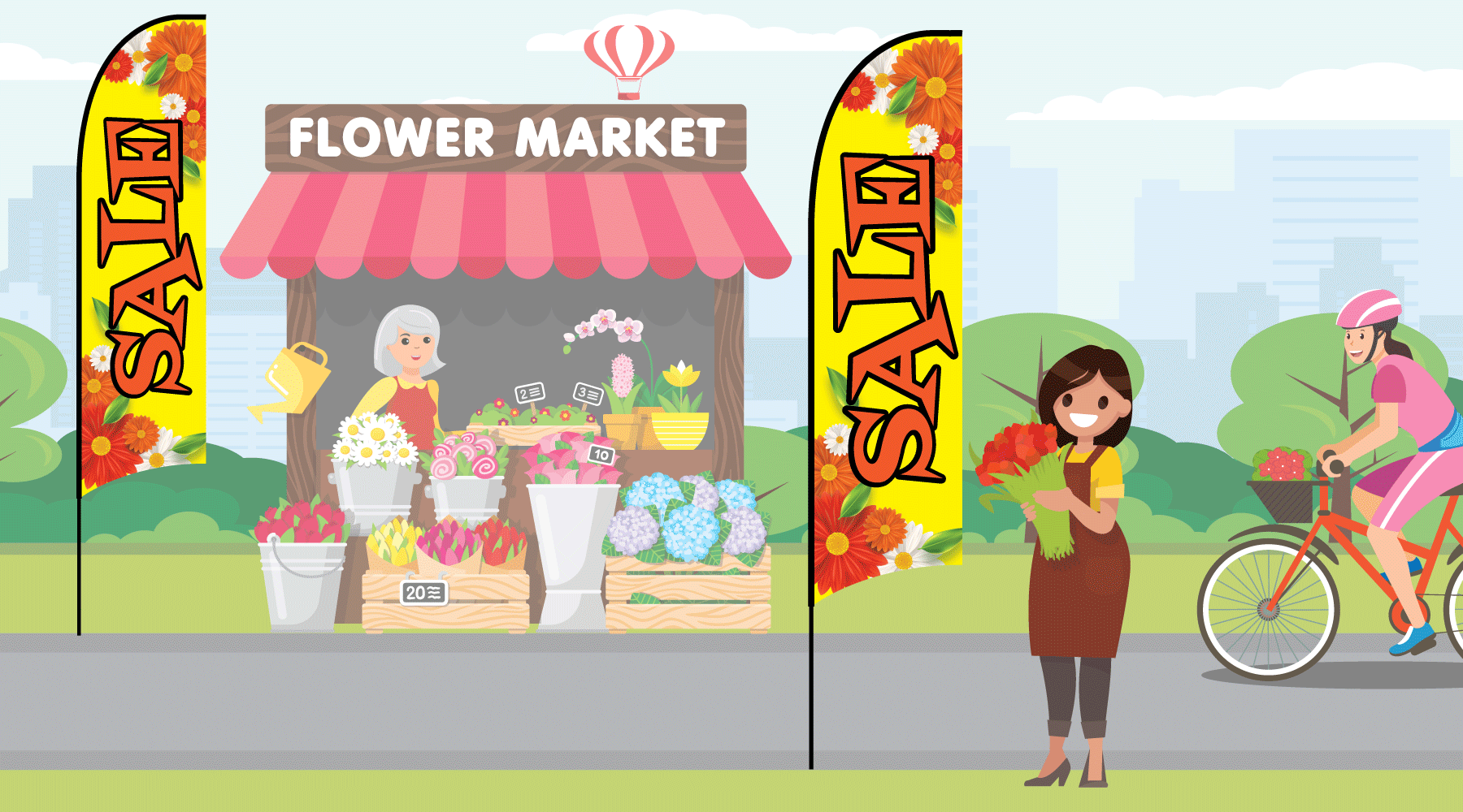 Florist Banner - Feather Flag for Sale